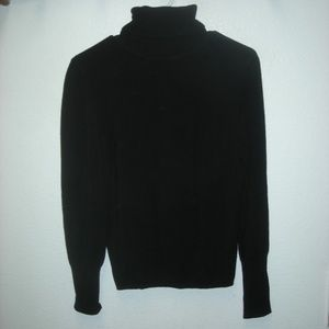 ZARA BLACK L/S TURTLE NECK PULLOVER SWEATER
